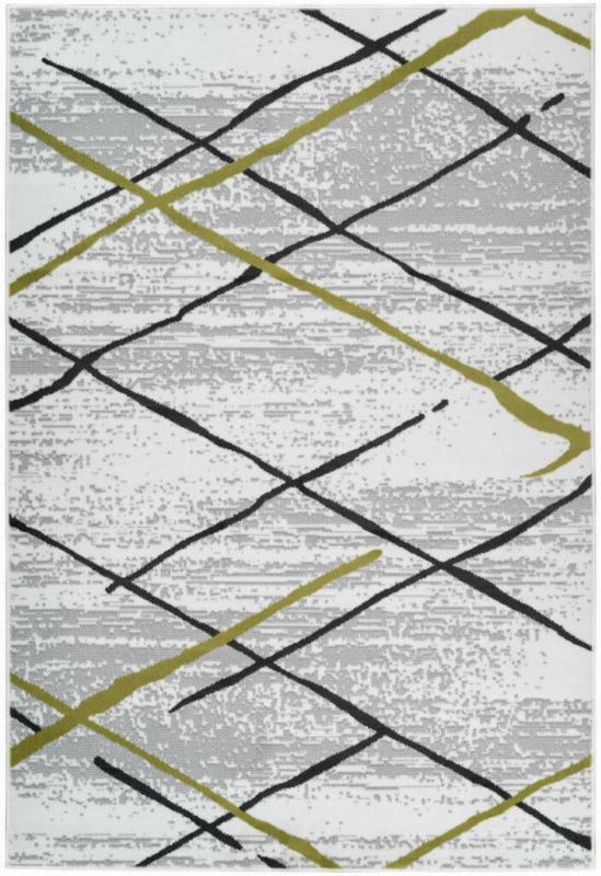 "Flachflorteppich ""Vancouver 110"", weiß/grau/khaki 160x230 cm"