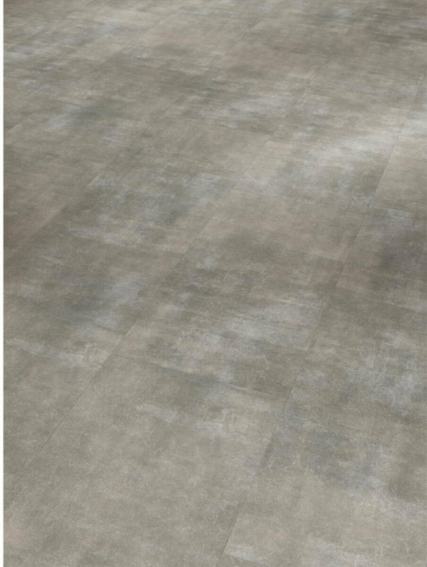 """Vinylboden """"Basic 4.3"""", Fliese Mineral grau, Mineralstruktur, 29,4x59,8 cm"""