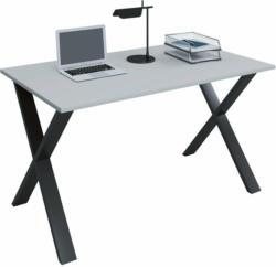 """Schreibtisch """"Lona"""", 110x50 cm, X-Fußgestell, grau/schwarz"""