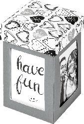 WALTHER Surprise Fotogeschenkebox  , Papier , Grau