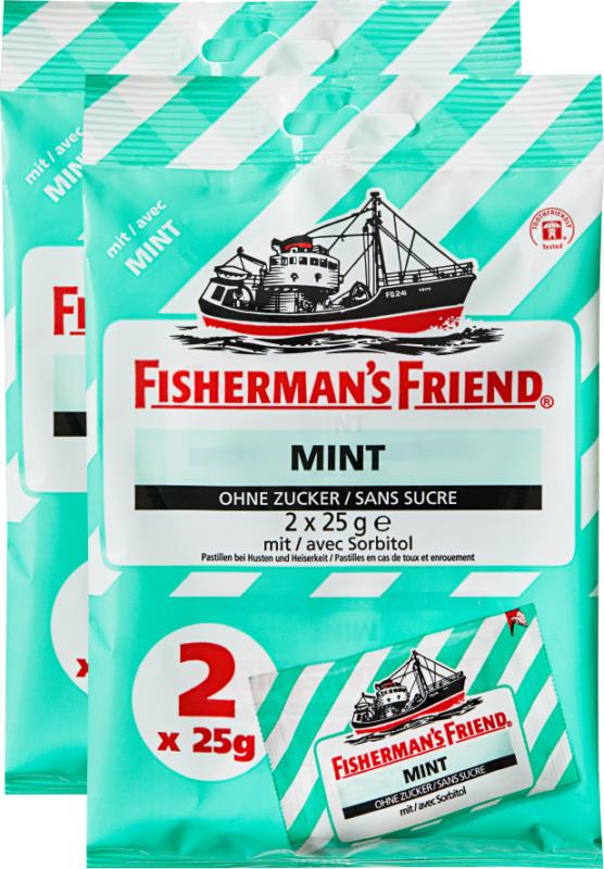 Fisherman's Friend, Minze, 2 x 2 x 25 g
