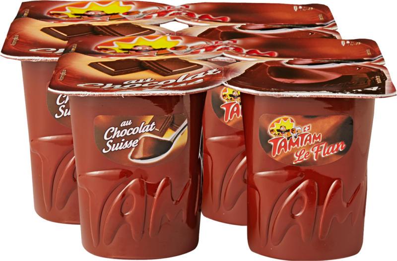 Flan Tam Tam, Chocolat, 8 x 125 g
