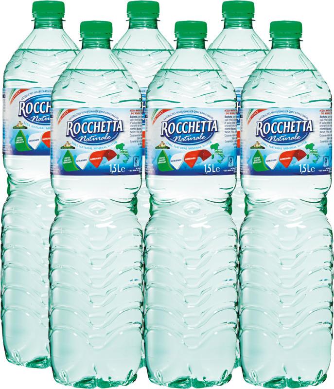 Eau minérale Naturale Rocchetta, non gazeuse, 6 x 1,5 litre