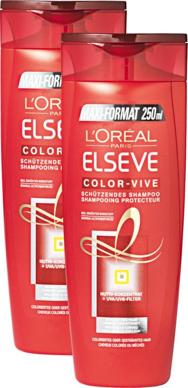 L'Oréal Elsève Shampoo Color-Vive, 2 x 250 ml