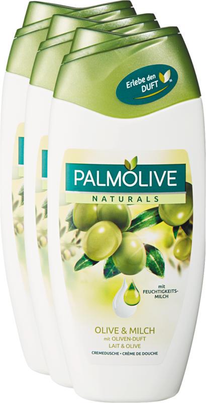 Crème de douche Naturals Palmolive, Olive & Lait, 3 x 250 ml