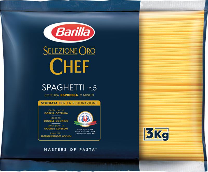 Spaghetti n. 5 Barilla, Selezione Oro Chef, 3 kg