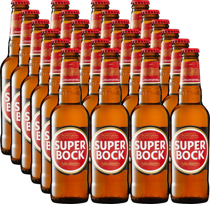 Bière Super Bock, 24 x 33 cl