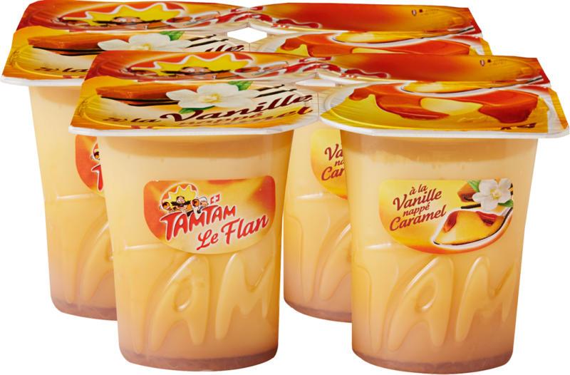 Flan Tam Tam, Vaniglia con salsa di caramello, 8 x 125 g