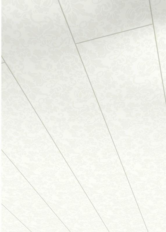 "Paneel ""Style"", Floral weiß, 1280x182x10 mm"