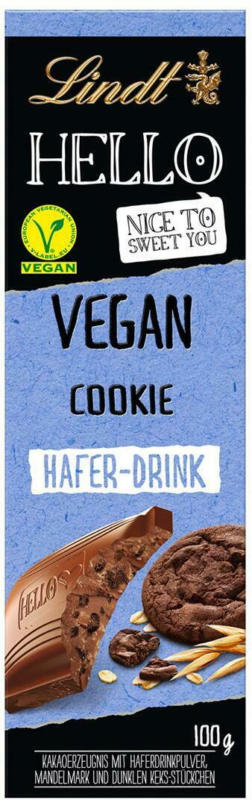 Lindt Hello Schokolade Cookie Vegan