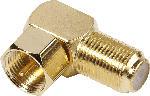 MediaMarkt SAT F - Winkeladapter, vergoldet