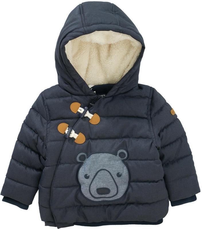 Baby Winterjacke mit Bären-Applikation