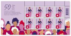 50 Jahre Frauenstimm- und Wahlrecht, Kleinbogen