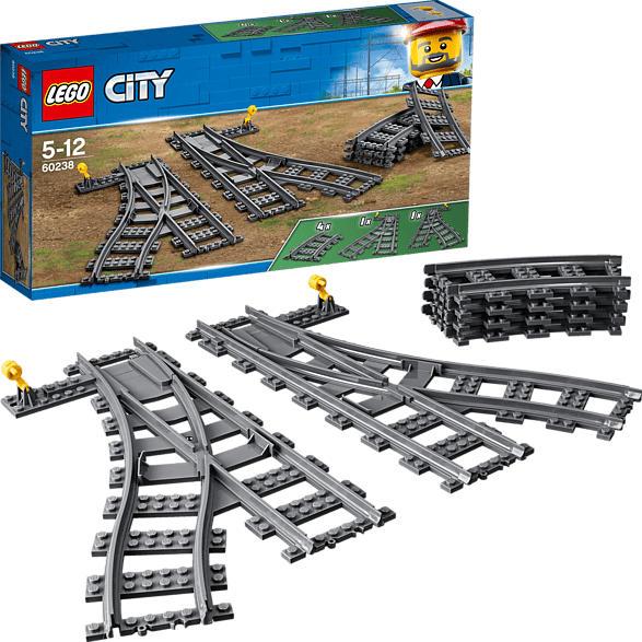 LEGO 60238 Weichen Bausatz, Mehrfarbig