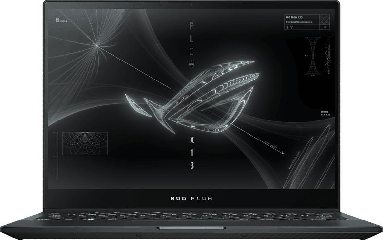 ASUS ROG Flow X13 GV301QH-K6034T, Gaming NoteBook mit 13.4 Zoll Display, Ryzen 7 Prozessor, 16 GB RAM, 512 GB SSD, GeForce® N18P-G61-A, Off Black