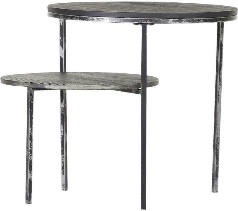 Beistelltischset in Holz, Metall 56/45/56/45/45/35 cm