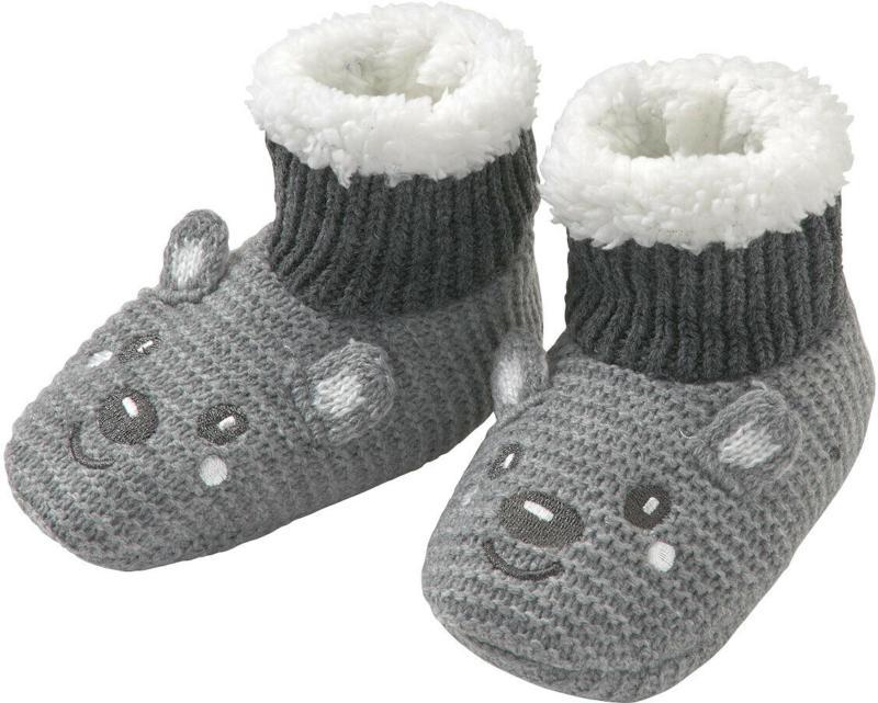 1 Paar Baby Haussocken mit Teddyplüsch (Nur online)