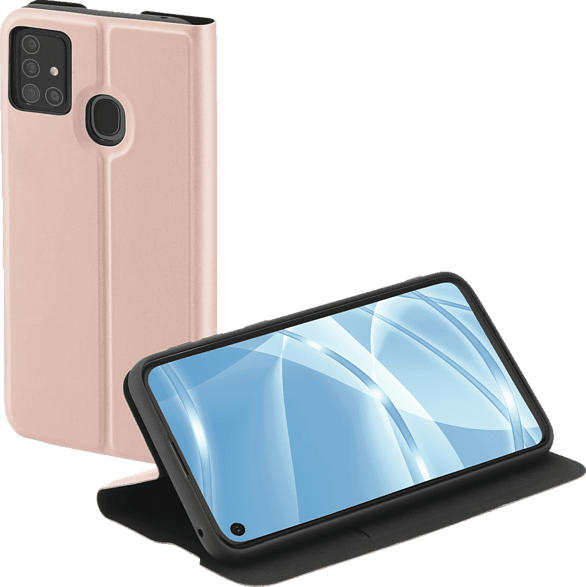 HAMA Single2.0 , Bookcover, Samsung, Galaxy A21s, Thermoplastisches Polyurethan, Rosa