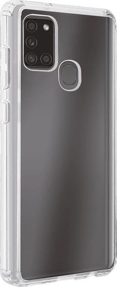 VIVANCO 61747 Safe & Steady , Backcover, Samsung, Galaxy A21S, Thermoplastisches Polyurethan (Rahmen), Polycarbonate (Rückseite), Transparent