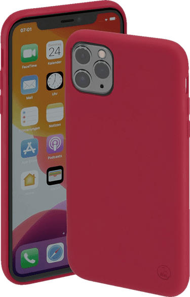 HAMA Finest Feel , Backcover, Apple, iPhone 12/12 Pro, Textilbezug/Thermoplastisches Polyurethan, Rot