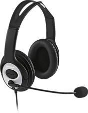 MICROSOFT LifeChat LX-3000 - Micro-casque (Câblé, Binaural, Over-ear, Noir)