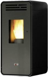 Anselmo Cola Pelletofen Ambra Schwarz Metall 6,5 Kw mit Wifi