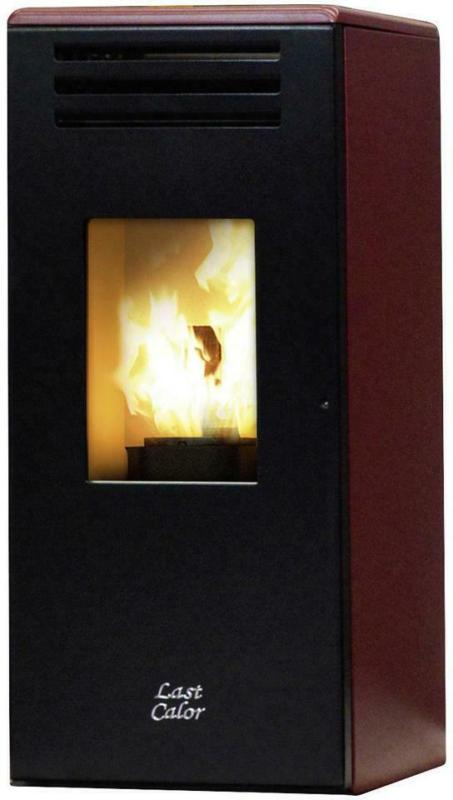 Last Calor Pelletofen Eco Eva Rot Metall 6,3 Kw mit Wi-Fi