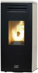 Last Calor Pelletofen Eco Eva Weiß Metall 6,3 Kw mit Wi-Fi