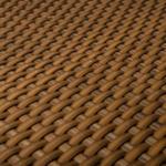 BayWa Bau- & Gartenmärkte Polyrattan Balkonsichtschutz 90x300 cm, Honig Honig