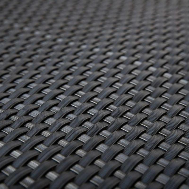 Polyrattan Balkonsichtschutz 90x300 cm, Anthrazit Anthrazit