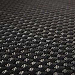 Polyrattan Balkonsichtschutz 100x300 cm, Schwarz Schwarz