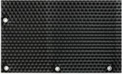 Polyrattan Balkonsichtschutz mit Metallösen 90x300 cm, Schwarz Schwarz