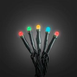 Micro LED Lichterkett gefrostet, 50 LEDs, bunt