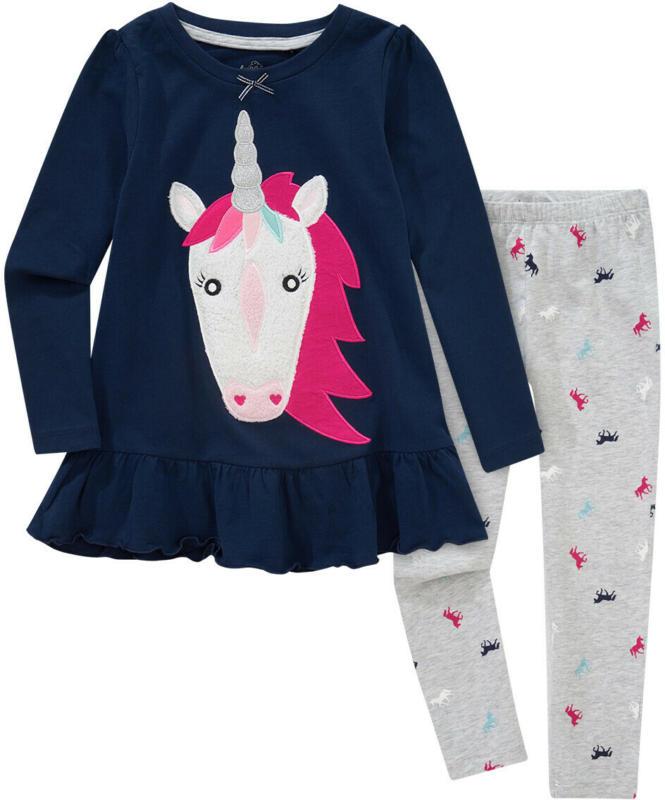 Mädchen Schlafanzug mit Einhorn-Applikation (Nur online)