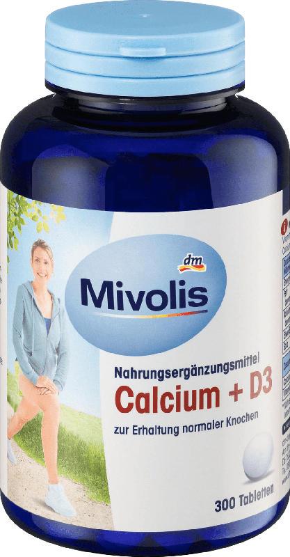 Mivolis Calcium + D3 Tabletten, 300 St.
