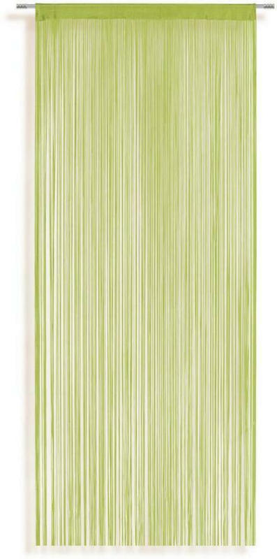 Fadenvorhang Stangendurchzug Marietta B: 90cm, Grün