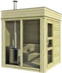 Möbelix Sauna Outdoor Wwc 2x2 mit Int. Steuerung 228,6x228,6x278 cm