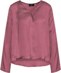 Damen Satin-Bluse mit krempelbaren Ärmeln (Nur online)