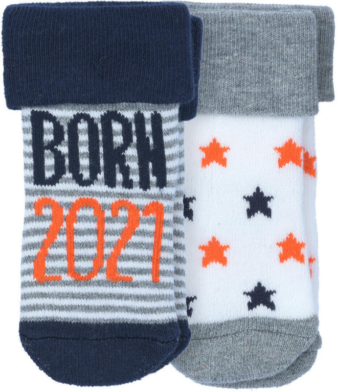 2 Paar Newborn Socken Born 2021 (Nur online)