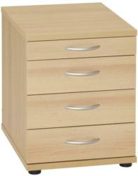 Rollcontainer Buche Dekor Serie 4000 41,6x53,4x50 cm
