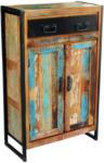 Möbelix Vitrine Faro B:76cm Massiv, Recyclingholz Multicolour