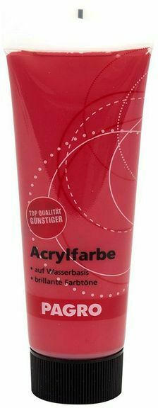 PAGRO Acryl-Farbe 100ml krapprot