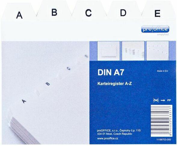 PROOFFICE Karteiregister A7 A-Z weiß