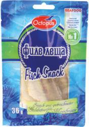Snack aus Goldstreifen-Meerbrasse-Filet (Nemipterus virgatus), getrocknet und gesalzen