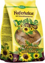 Haferkekse mit Sonnenblumenkernen