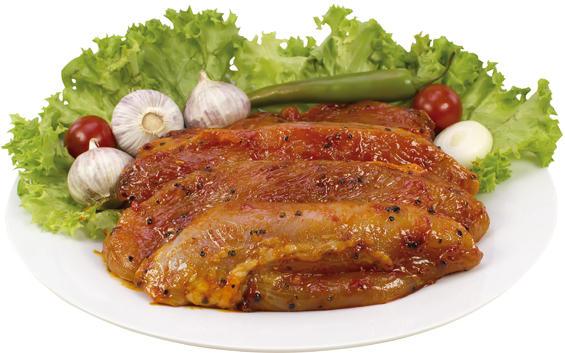 Puten-Steak mariniert