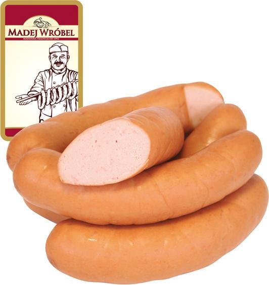 Polnische Brühwurst mit Putenseparatorenfleisch, fein zerkleinert