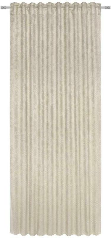 Vorhang mit Ösen und Band Bianca B: 140cm, Beige