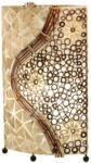 Möbelix Tischlampe Muschel Braun Textil mit Ornamenten