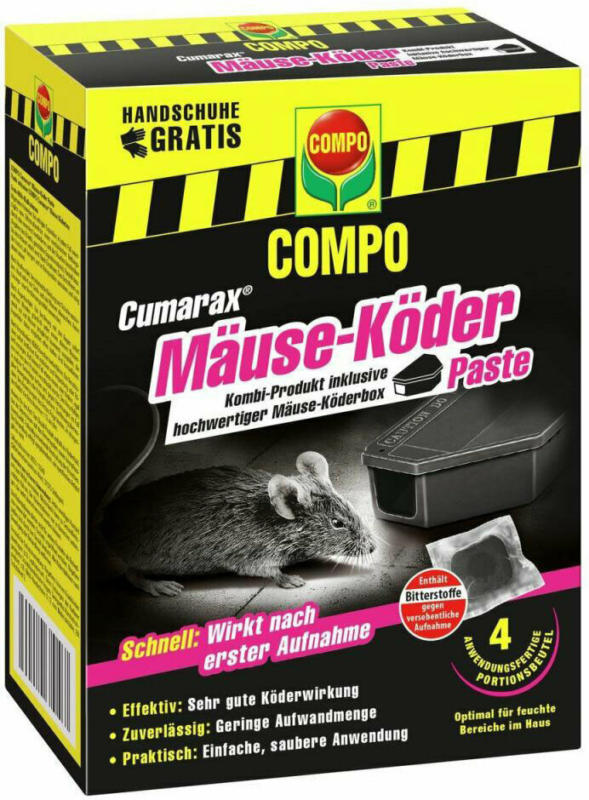 Cumarax® Mäuse-Köder Paste + Box